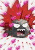 eijiro as a rock with pink hearts