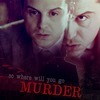 "Jim Moriarty (BBC Sherlock); ""so where will you go"" in white; ""MURDER"" in red"