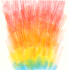 messy, abstract doodle of fire