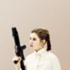 picture of leia organa in her episode v jumpsuit with a white background