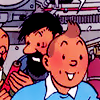 tintin looking delighted