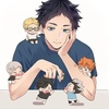 Akaashi and the mini Third Gym Squad