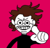 Hol Horse with a heterosexual pride flag.