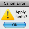canon error:apply fanfic?