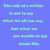 Anias Nin Writing Quote