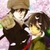 Yoite & Miharu: cherry blossoms.