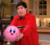 Josh from Drake and Josh holding Kirby exclaiming 'SPHERICAL'
