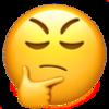 A thinking emoji.