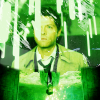 castiel with green sparks