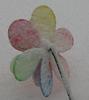 flower windmill in snow
