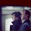 Mycroft and Sherlock in profile