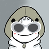 dream blob but in a shark hoodie