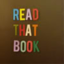 The words READ THAT BOOK spelled in letter magnets