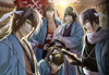 The male characters from Hakuouki Otome Game