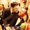 my loves, James McAvoy surprising Michael Fassbender from behind
