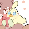 Duck (from Princess Tutu) holding a gift!