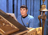 Photo of Spock sitting at the piano from the Star Trek episode Requiem for Methuselah