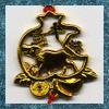 Gold metal Chinese Zodiac Ox charm.