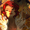 Red from Transistor as she appears on her promo posters.