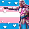 Alesha, Who Smiles at Death in trans* colors!