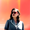 Peggy Carter looking off into the sun