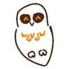 happy cartoon owl (based on a baby spectacled owl)