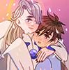 Yue!Victor and Kinomoto Touya!Yuuri by Toastibo