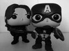 Pop figures Winter Soldier and Captain America