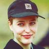 Gillian Anderson in a cap
