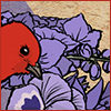 close-up color artwork of Karolina Dean kissing a smiling Nico Minoru on the cheek.