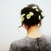 girl with daisies in hair