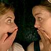 A laughing Jane Austen from Miss Austen Regrets