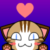 a cute Lima cat, light brown base fur with dark brown stripes and a white face and blue eyes