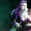misty autumn woods in sunlight