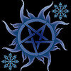 The Supernatural pentagram with two snowflakes