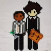 Toby and Adil, made of mealty beads by me