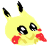 a blurry drawn delighted pikachu based of the discord icon pikachuwu