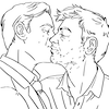 Fan art of Sherlock and John in bed