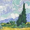 Wheat Field with Cypress (van Gogh)