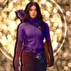 Hailee Steinfeld as Kate Bishop | Hawkeye on a field of glitter