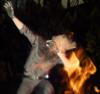 Ignis dabbing near fire