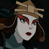 """The face of Suki from """"Avatar: The Last Airbender"""" wearing her Kyoshi Warrior makeup."""