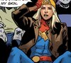 obsetress' icon, an image of Captain Marvel wearing a leather jacket and a backwards baseball cap, sitting down and facepalming
