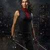 Elektra Natchios from daredevil holding her twins sai (two short swords)