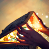 hands opening a treasure box, light pouring out of it