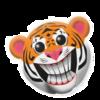 creepy smiling tiger