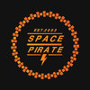 """space pirate"" lettering on a black background"