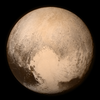A photograph of the planet Pluto.
