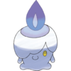 A icon of Litwick, a candle-themed Pokemon