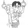 Genki Textbook Vocab Comic: ちかん、さわる